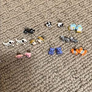 NWOT Justice animal earrings